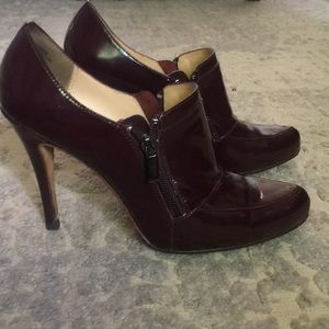 Burgundy pumps